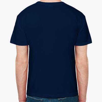 Мужская футболка Fruit of the Loom, темно-синяя