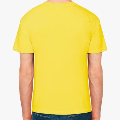 Мужская футболка Fruit of the Loom (желтая)