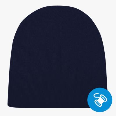 Шапка, темно-синяя (вышивка)