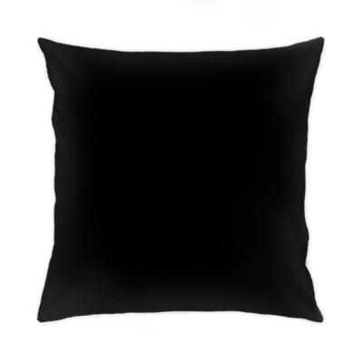 Подушка 35x35 см, черная обратная сторона
