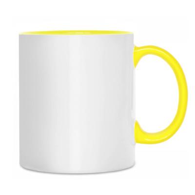 Кружка бел/жёлт
