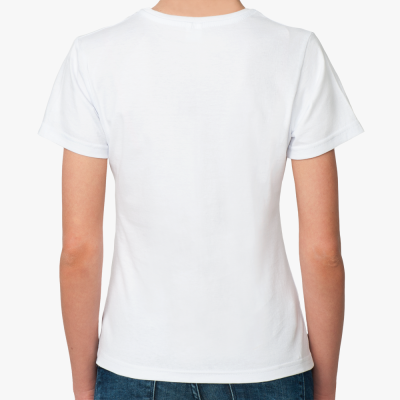 Прекрасная Женская футболка (белая) Yes
