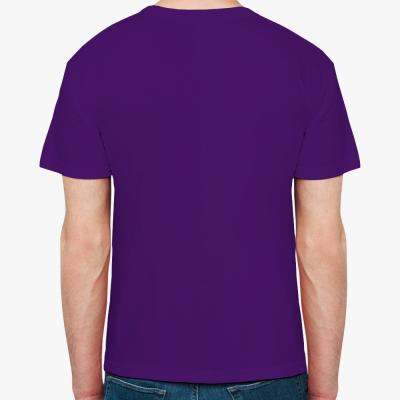 Мужская футболка Fruit of the Loom, фиолетовая