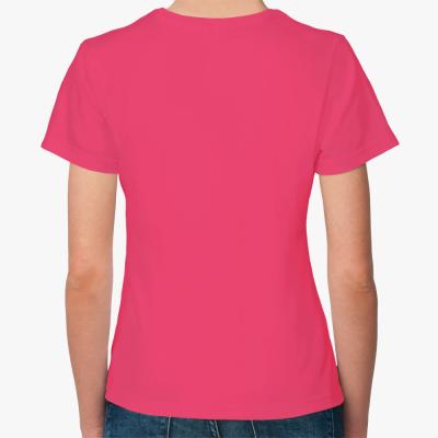 Женская футболка Fruit of the Loom, малиновая