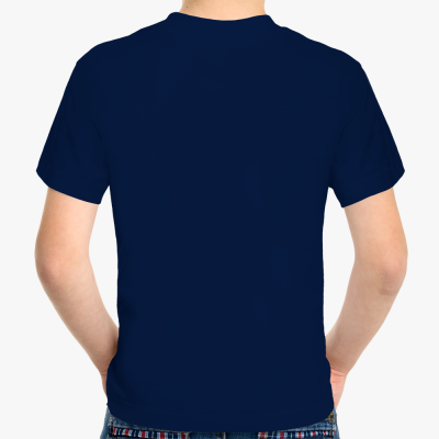 Детская футболка Never miss a chance, темно-синяя