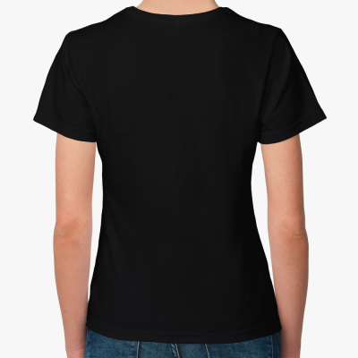 Женская футболка The Divine in me (черная)
