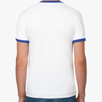 Футболка Ringer-T мужская (бел/син)