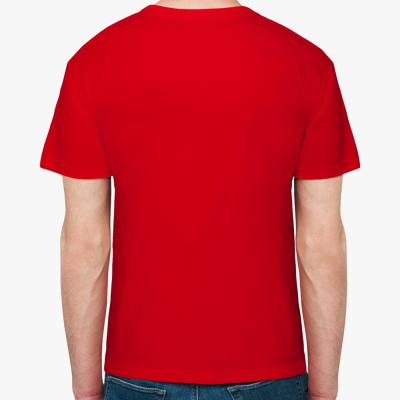 Мужская футболка The Divine in me (красная)