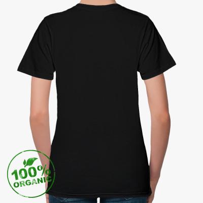 Женская футболка Stella Likes из органик-хлопка, черная