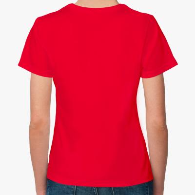 Женская футболка Красный Проун