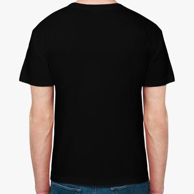 Мужская футболка Hanes Organic (черная)