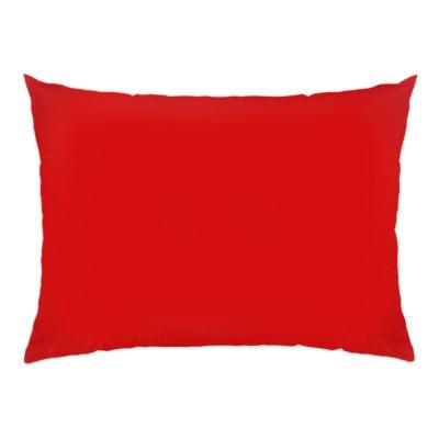 Подушка 47x35 см, красная обратная сторона