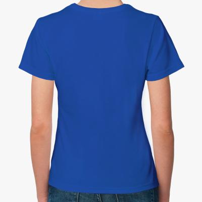 Женская футболка The Divine in me (синяя)