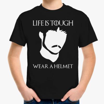 Детская футболка  Wear a helmet