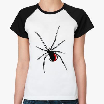 Женская футболка реглан Черная вдова