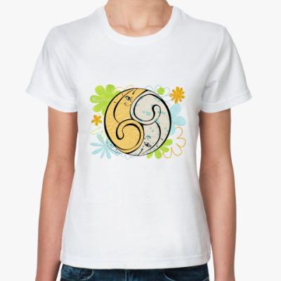Классическая футболка Коты 69-дыня и мята 2