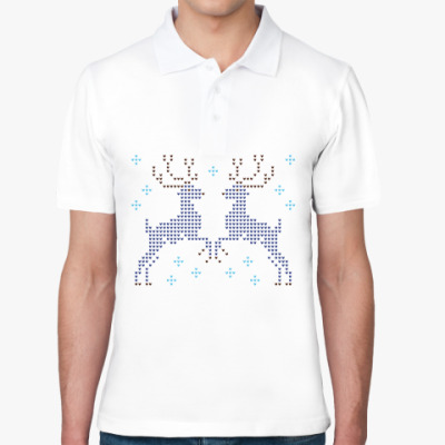 Рубашка поло Олени вязаные