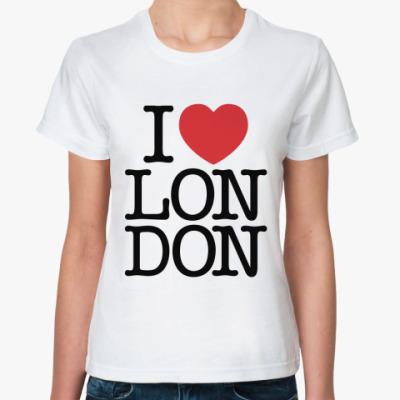 Классическая футболка I love Лондон