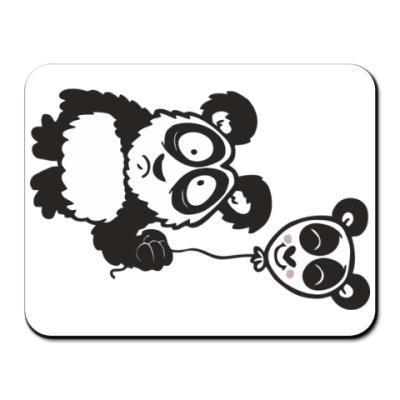 Коврик для мыши Панда с шариком