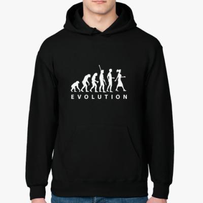 Толстовка худи Эволюция в девушку