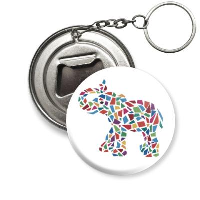 Брелок-открывашка Слон - мозаика