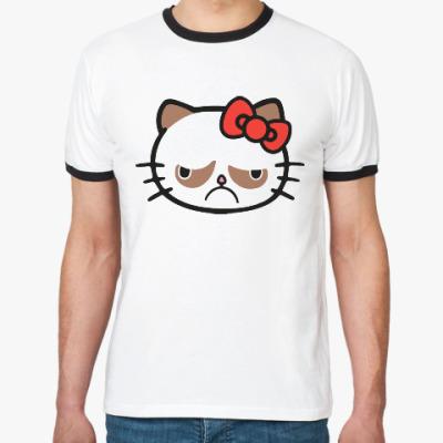 Футболка Ringer-T Hello Grumpy Cat
