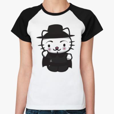 Женская футболка реглан Kitty Vendetta