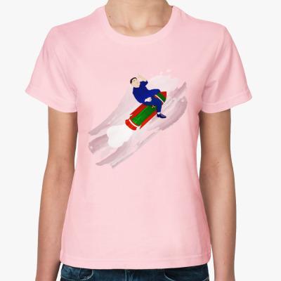 Женская футболка Ким летит в светлое будущее