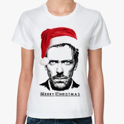 Классическая футболка Merry Christmas