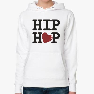 Женская толстовка худи Люблю хип-хоп