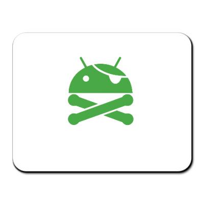 Коврик для мыши Android пират