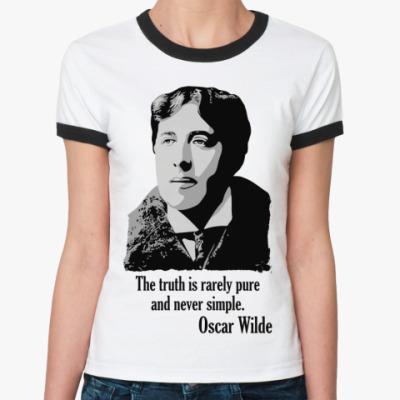 Женская футболка Ringer-T Oscar Wilde