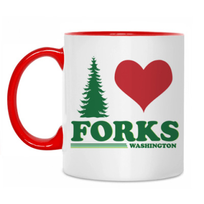 Кружка I love Forks.WA
