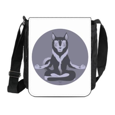 Сумка на плечо (мини-планшет)  Animal Zen: H is for Husky