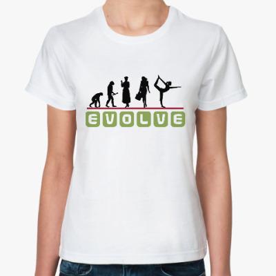 Классическая футболка Эволюция Девушки