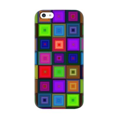 Чехол для iPhone 5c Яркий неоновый современный дизайн