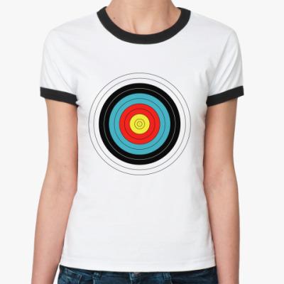 Женская футболка Ringer-T Ходячая цель