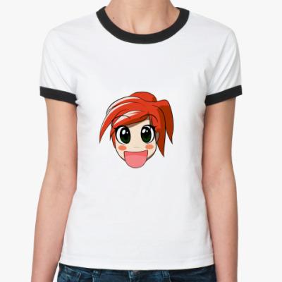 Женская футболка Ringer-T   Счастье