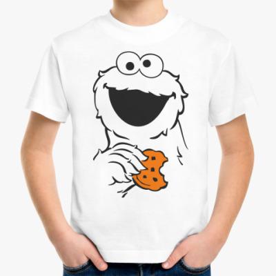 Детская футболка Монстр держит печеньку