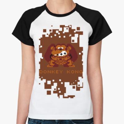 Женская футболка реглан Donkey Kong
