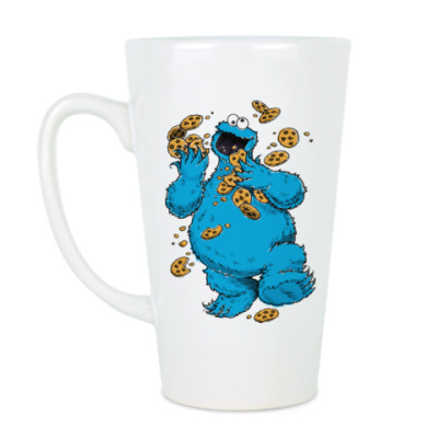 Чашка Латте Cookie Monster