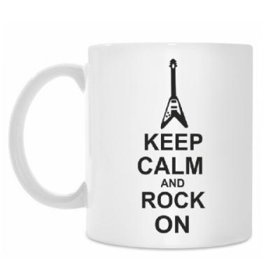 Кружка Keep calm and rock on