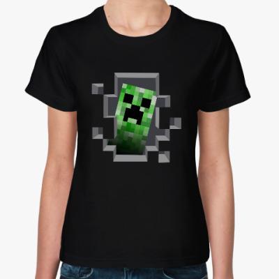 Женская футболка Creeper