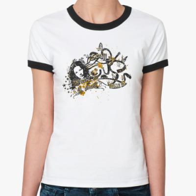 Женская футболка Ringer-T Scroll up