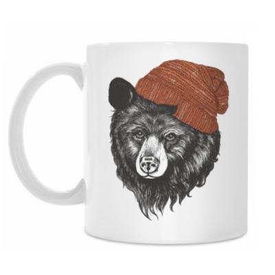 Кружка Медведь в шапке