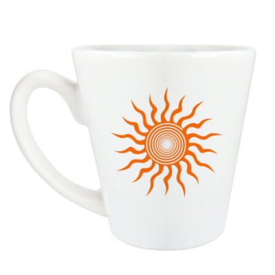 Чашка Латте Солнышко