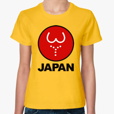 Женская футболка Японская леди
