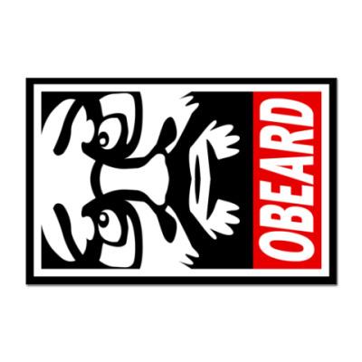 Наклейка (стикер) Стикер «Obey The Beard»