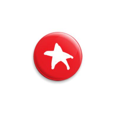 Значок 25мм Новогодния Звезда
