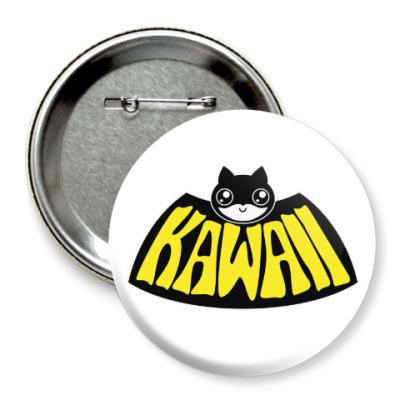 Значок 75мм Kawaii Batman